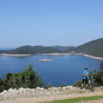 The view from the trail to the National Park Mljet