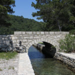 The bridge at the channel between Small and Great Lake on The Island of Mljet