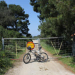 The end of the unpaved road on the west course from Pomena
