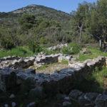 The ruins of Sv Pavle chapel on The Island of Mljet.