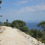 The new carriageway section from Saplunara to Podselo bay