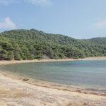 The sand beach in Blaca bay near Saplunara
