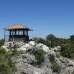 The observer's hut at Montokuc sightseeing point on The Island of Mljet