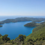 The view from Montokuc to The Small Lake and The Great Lake of The Island of Mljet