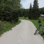 The paved section in Štirovača valley