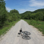 The unpaved section from Bubinica to Pazarište