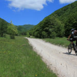 The unpaved section from Kozje Drage to Ozeblin