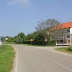 The crossroad at highway Livno - Bihać