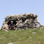 The shelter on Velika Golija mountain used during the last war in Bosnia and Herzegovina.