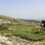 The descent section from Velika Golija to Livanjsko Polje field.