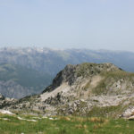 The view to Prenj mountain from Pjeskulja zone on Čabulja mountain
