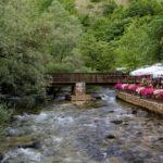 Lištica river near the restaurant in Široki Brijeg