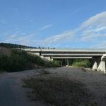The trail leads below the highway Zageb - Split