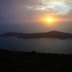 The sunset above Lokrum island
