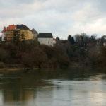 Kupa river and the castle of Ozalj