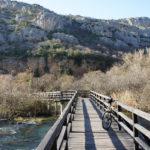 The trail near the waterfall Roški Slap in National Park Krka