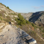 The carriageway section in the canyon of Čikola river