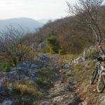 The rocky descent to Bribir