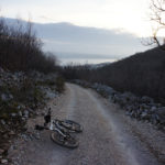 The unpaved road on the trail back to Crikvenica