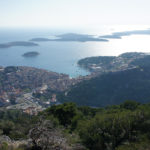The view from Napoleonic fortress on The Island of Hvar