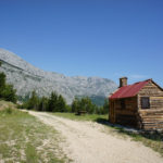 The hunters' shelter near the trail on Biokovo mountain