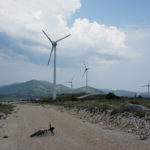 The section next to wind power generators on Orlice