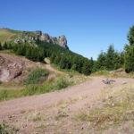 The junction next to Babin Zub on Stara Planina mountain