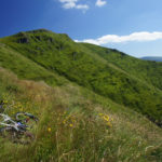 The section of the trail overgrown in the grass on Stara Planina mountain