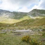 The ruins of military hut on Korab mountain