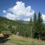 Jodovo village and Gjeravica summit in the background.
