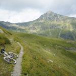 The trail towards Gjeravica peak. Gjeravica peak is in the background.