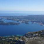 The view from sightseeing point near Sveti Ilija peak