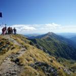 Romanian flag on the peak. Moldoveanu peak is the highest elevation point of Romania.