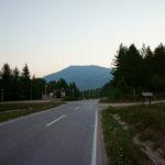 The junction in Tjentište village in National Park Sutjeska