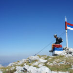 At Maglić peak. This is the highest elevation point of Bosnia and Herzegovina.