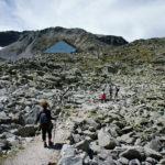 Hiking path to Musala peak in National Park Rila.
