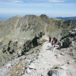 The final section to Musala peak in National Park Rila.