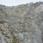 The labeled hiking trail to Mytikas peak