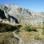 The trail in Prokletije at elevation of 1800m. The section towards Zla Kolata.