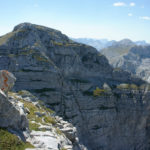 Zla Kolata 2528m, seen from Dobra Kolata. Zla Kolata is the highest elevation point of Montenegro.