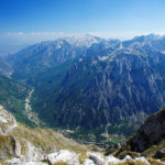 Valbona valley (Albania), seen from the vantage point about 700m far from Zla Kolata
